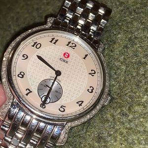 Michele CSX sterling silver & diamond ladies watch